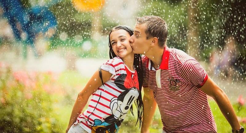 Поцелуи под дождем