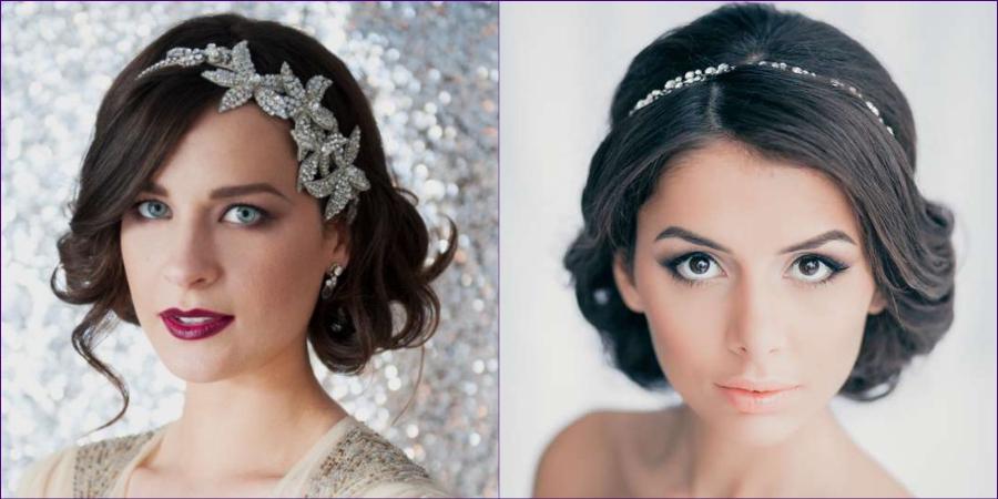 Ободки в образе невесты
