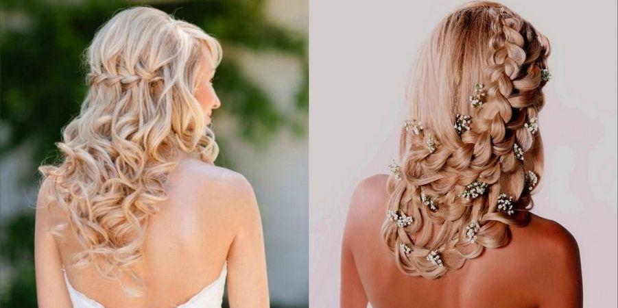 Сочетайте плетение с распущенным волосом
