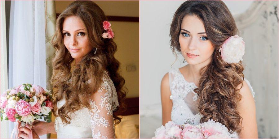 Бутоны цветов в волосах