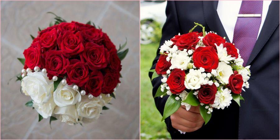 Распространенные варианты из роз