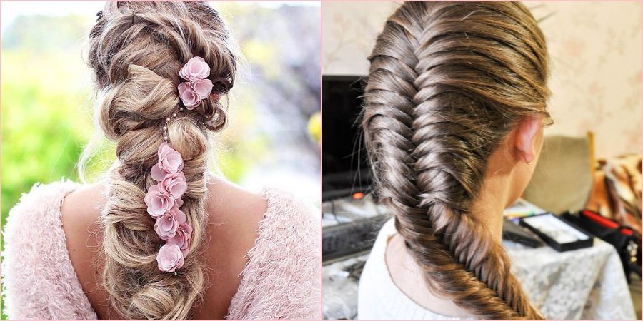 Стильный образ с косами