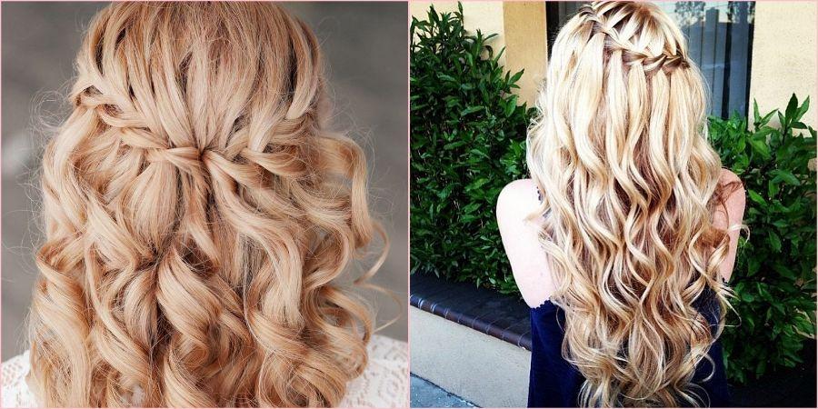 Водопад на средние и длинные волосы