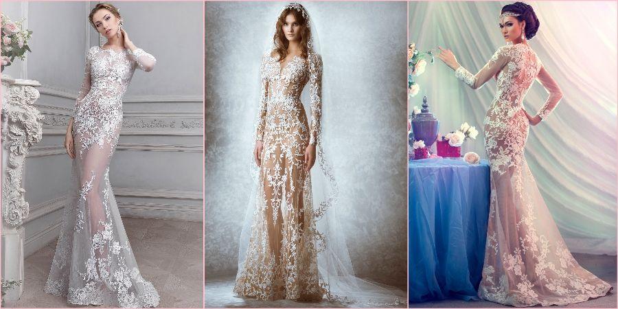 Откровенные наряды на свадьбу из тонкого тюля