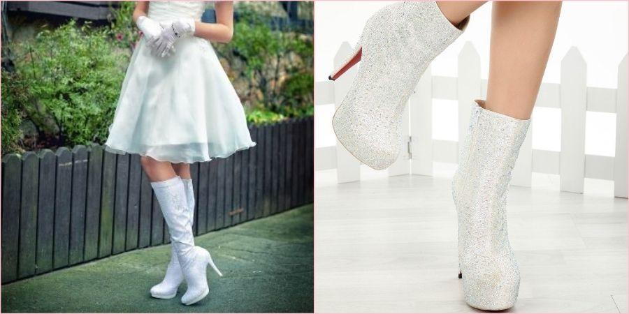 Белая демисезонная обувь