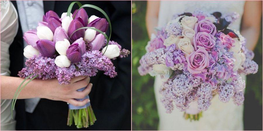 Сирень с тюльпанами замечательно гармонирует