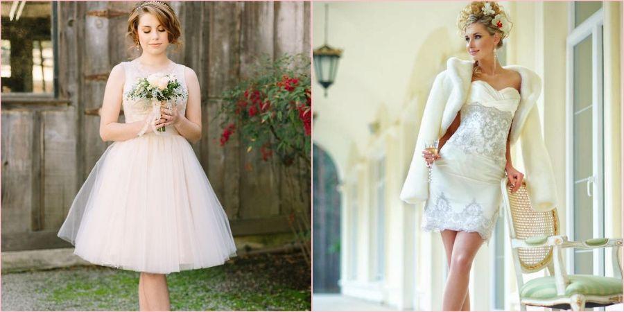 Образы девушек в платьях короткой длины