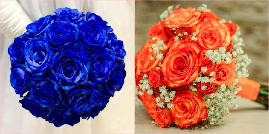 Бывают оранжевыми и синими