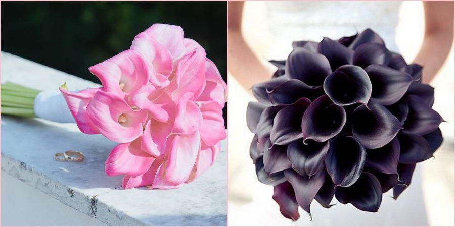 Розовый и черный цвет прекрасен для монобукета