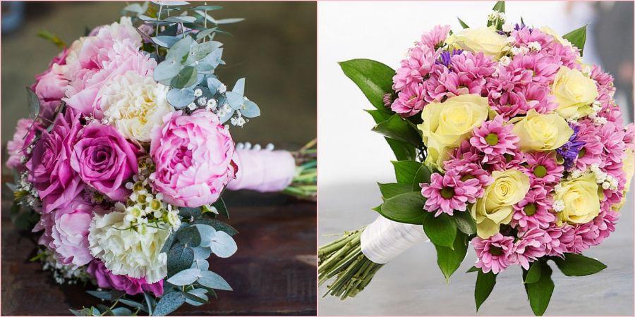 Сочетайте розочки с гвоздиками и хризантемами