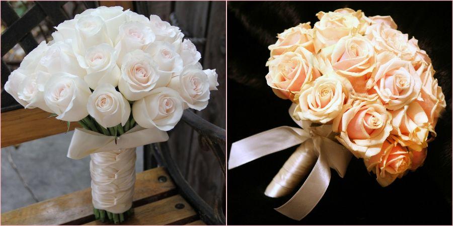 Составьте свадебную композицию только лишь из роз