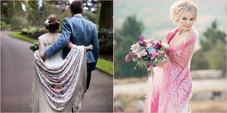 Платки и палантины для русской народной свадьбы