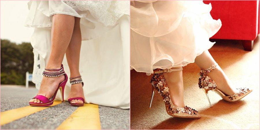 Яркие акценты на обуви