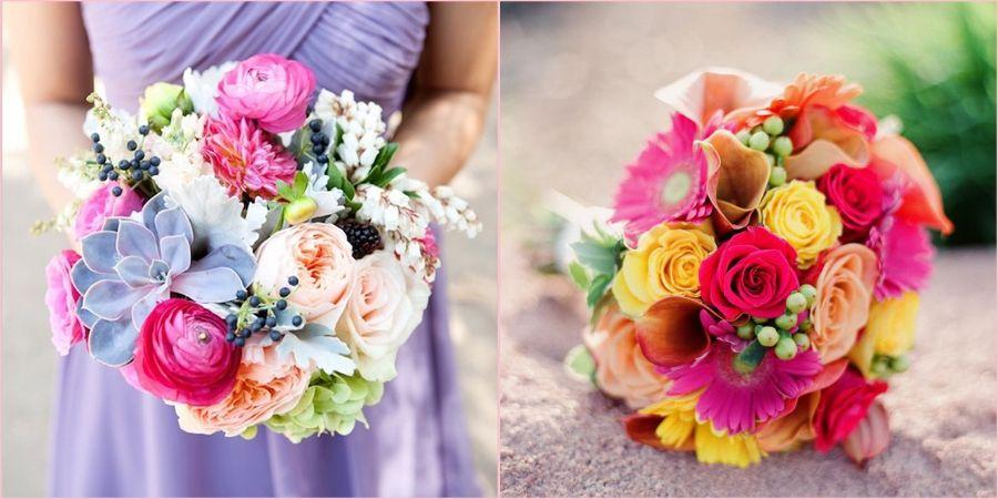 Красивые букеты на свадебное торжество