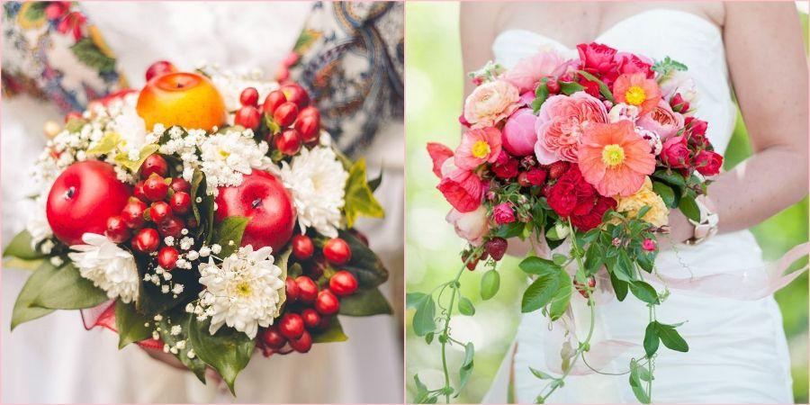 Добавляйте яблоки и малину в свои цветочные композиции