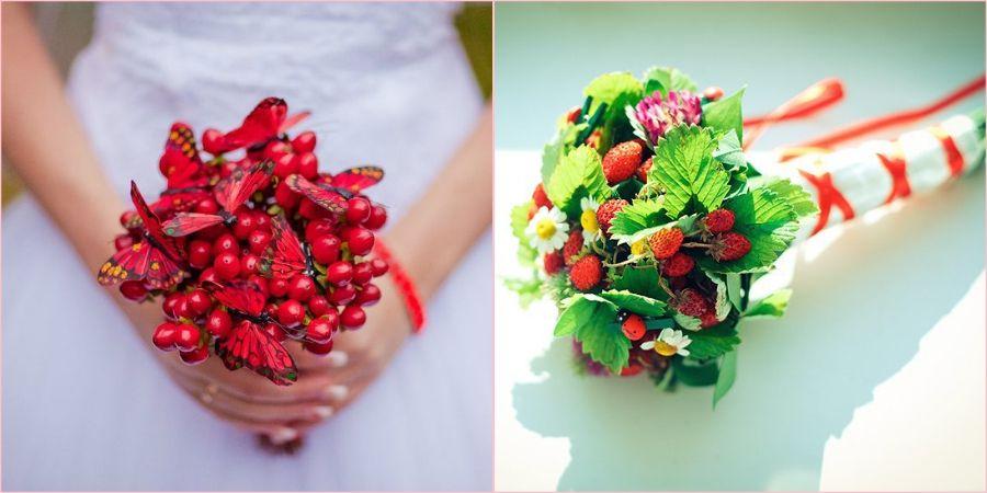 Сочные ягодные плоды в атрибуте невесты