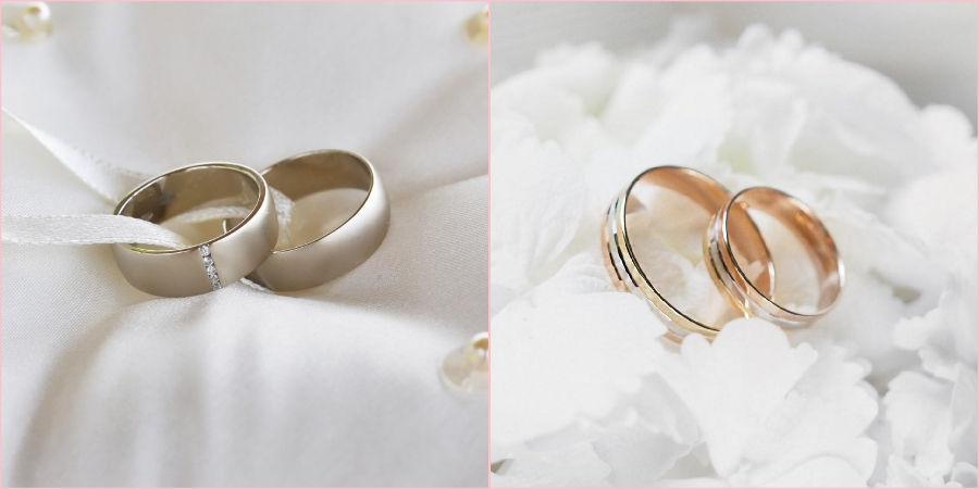 Для венчального союза выбирайте только драгоценные металлы