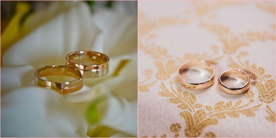 Для церковного брака идеально подойдут гладкие ободки