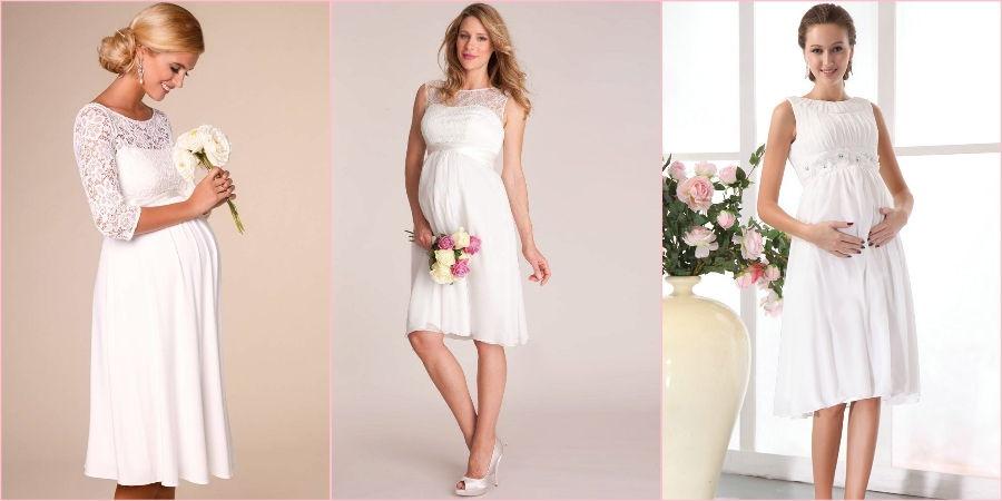 Коротенькие платьица актуальны для женщин ждущих пополнение