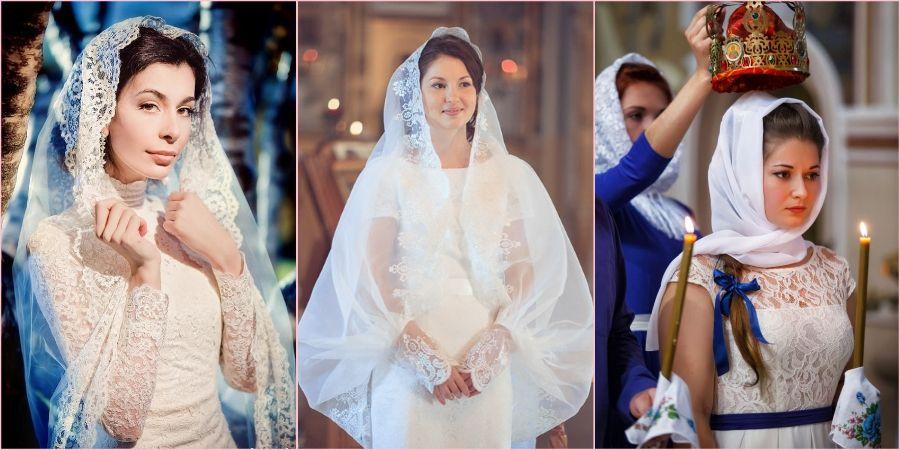 Красивый кружевной платок заменит привычную фату