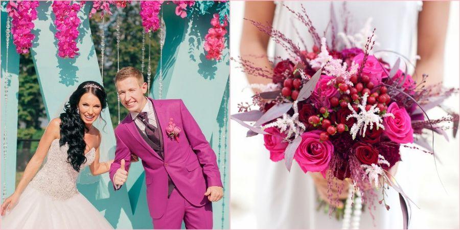 Наполните свадьбу яркими акцентами вместе с розовым павлином