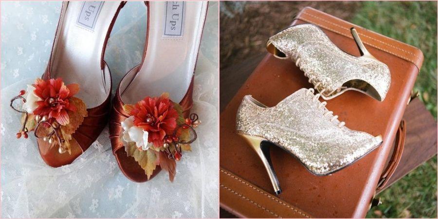 Необходимо чтобы праздничная обувь была чем-то украшена