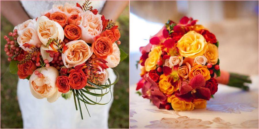 Без роз не обходится ни один свадебный букетик
