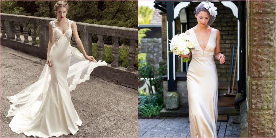 Из натурального шелка получаются шикарные наряды на свадьбу