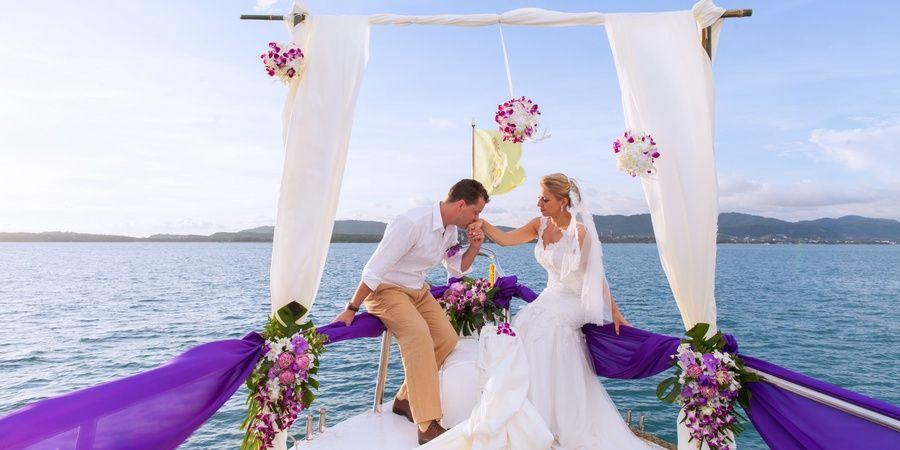 Шикарный свадебный день на яхте