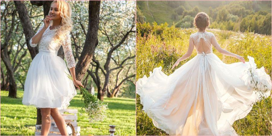 Летняя одежда для невесты