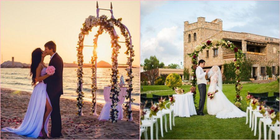 Влюбленные часто устраивают свадьбы за границей