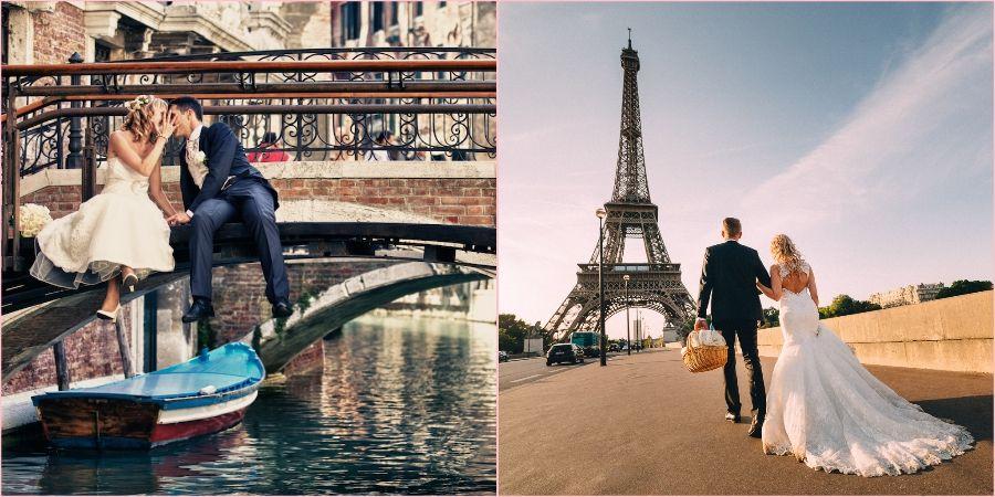 Париж часто выбирают для торжественного дня вдвоем