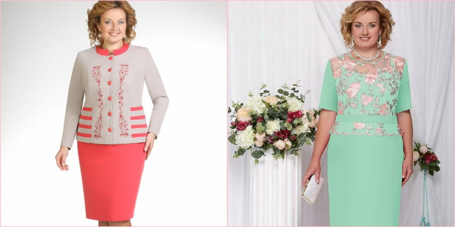 Для зрелых женщин подойдут костюмчики с юбкой