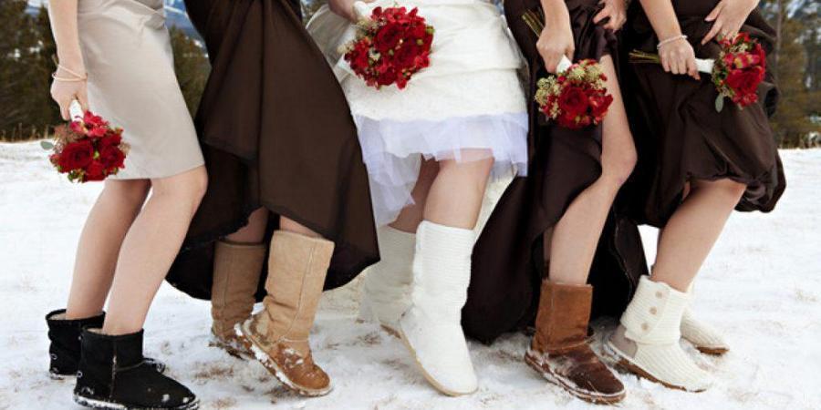 Угги отлично подойдут на тематическую свадьбу