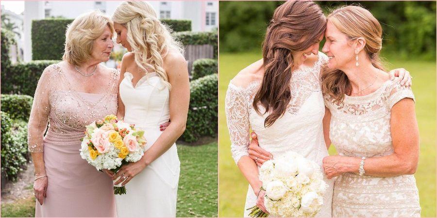 Элегантно будет сочетать некоторые элементы платья с невестой