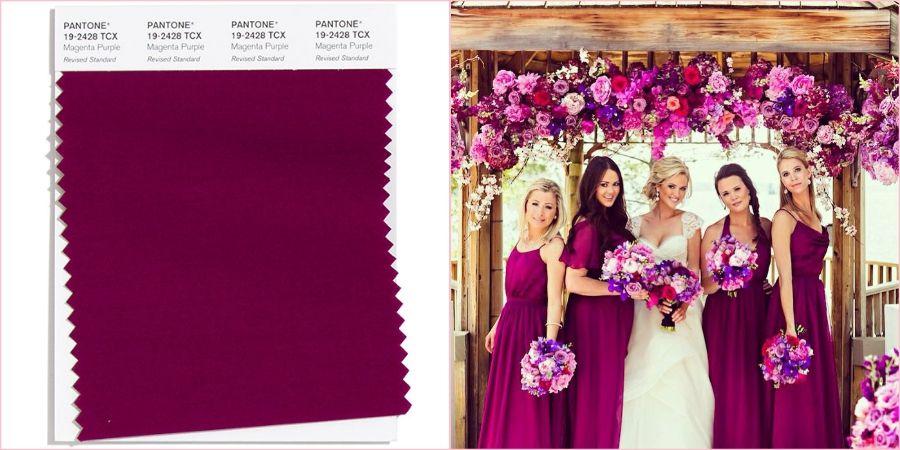 Пурпурно-фиолетовый получился с помощью смешивания сиреневого и красного