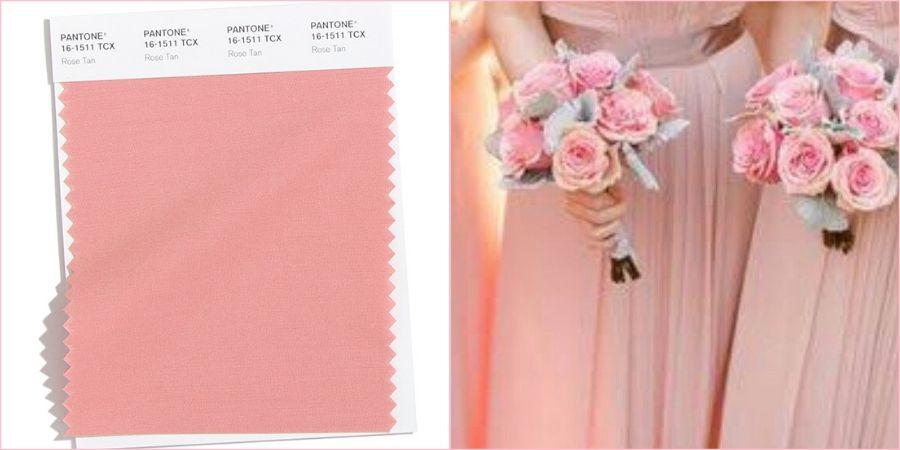 Припыленно-розовый подойдет в качестве цвета для свадебного платья невесты