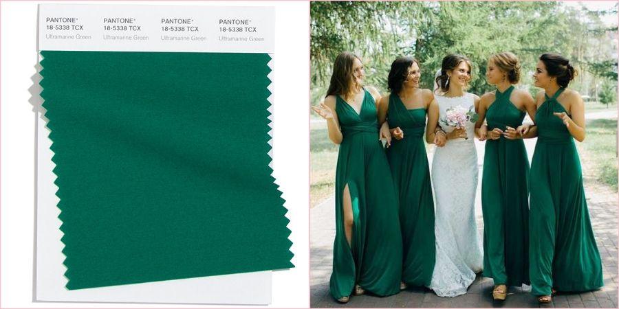 Ультрамариновый зеленый смотрится очень благородно