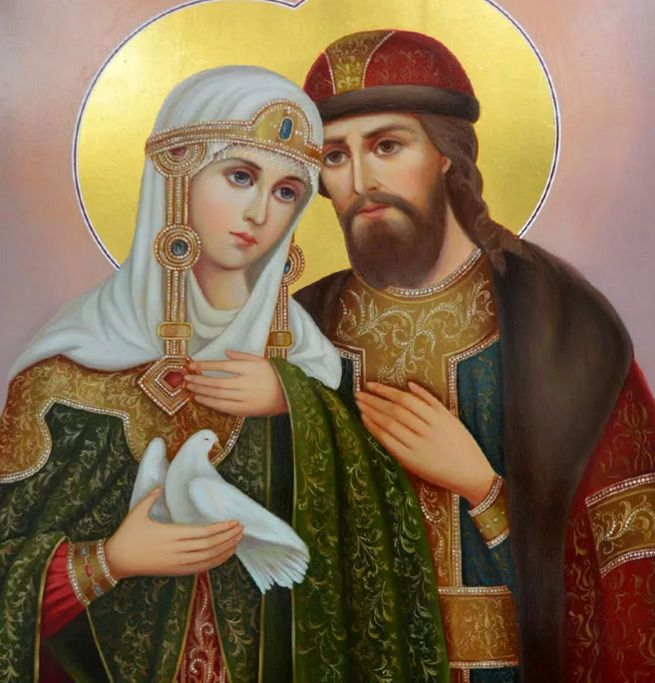 Для венчального процесса подойдут образы Петра и Февронии