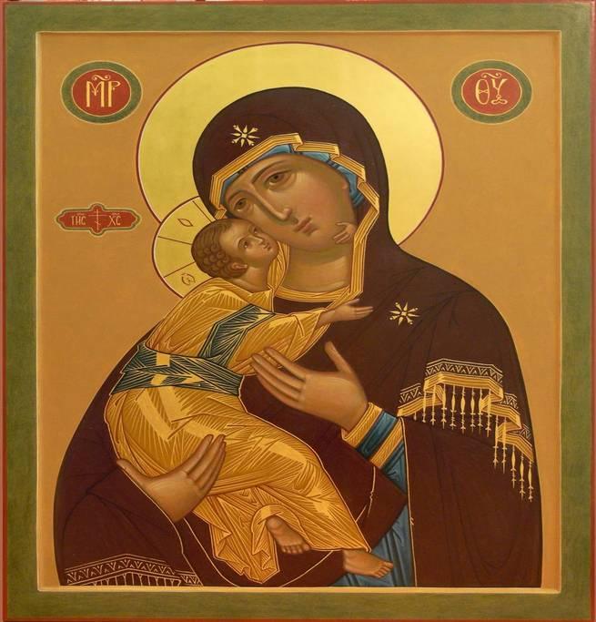 Владимирская Божья Матерь подойдет для Таинства венчания