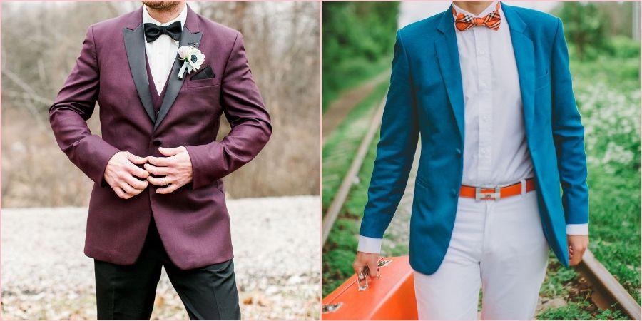 С однотонными брюками подойдет яркий пиджак