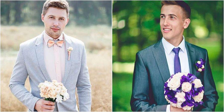 Серую расцветку мужчины часто выбирают на бракосочетание
