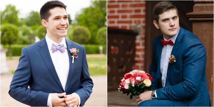 Темно-синие мужские костюмы считаются классическими