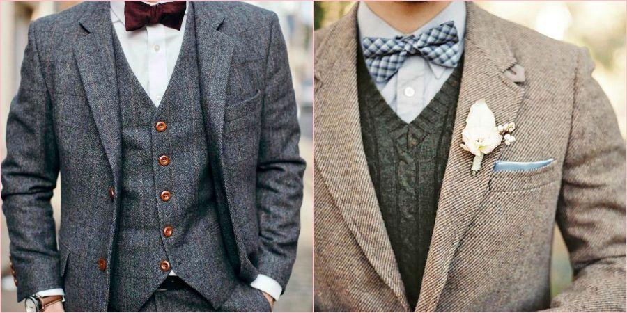 Из твидовой ткани получаются статные пиджаки