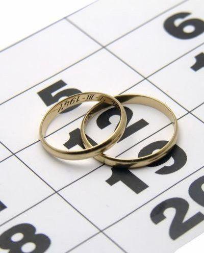 Выбрать свадебную дату очень просто