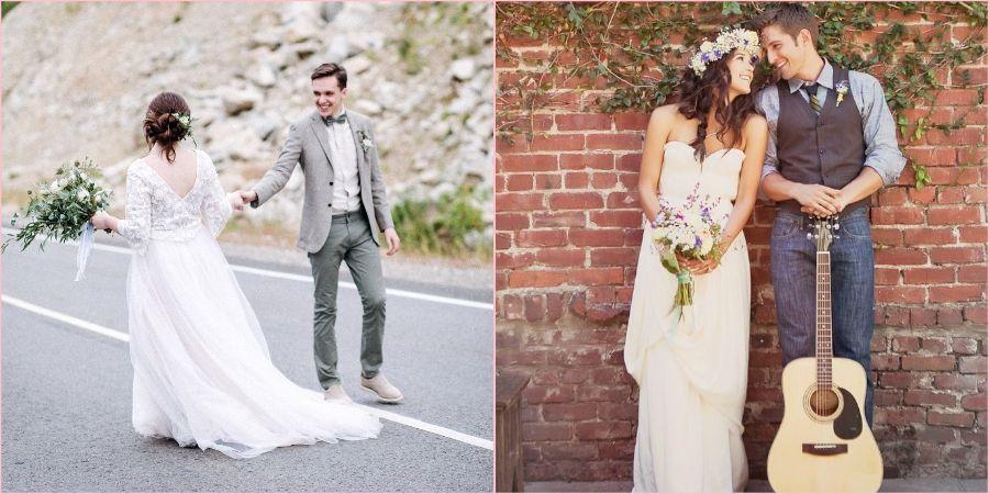 Муж и жена на своей свадьбе позаботились об окружающей среде