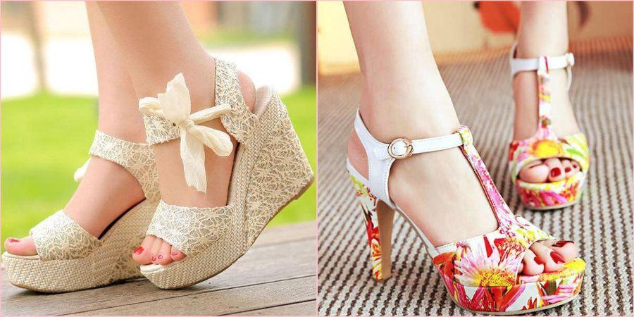 На лето уместна открытая пара обуви