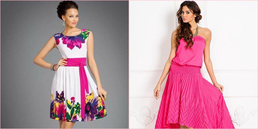Женщины в розовых платьях