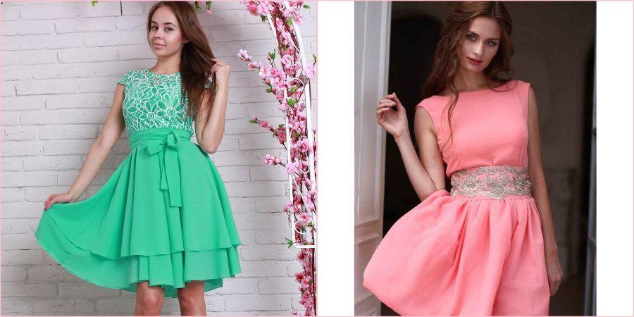 Платья ярких расцветок для лета