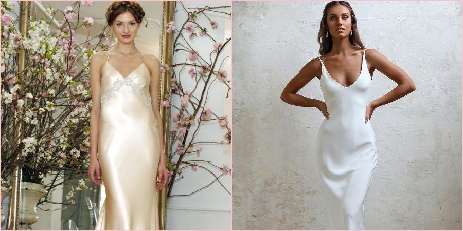 Бельевой стиль подойдет хрупким невестам